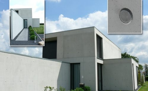 Architecture with exposed concrete also works for single family houses